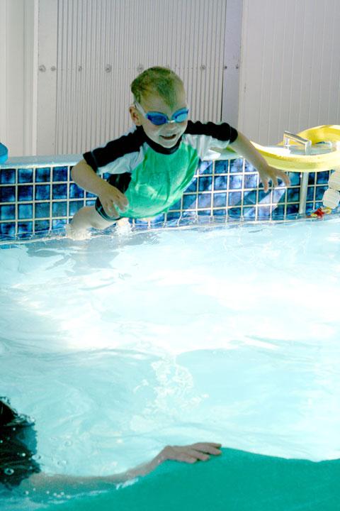 Dan's-first-swimming-lesson