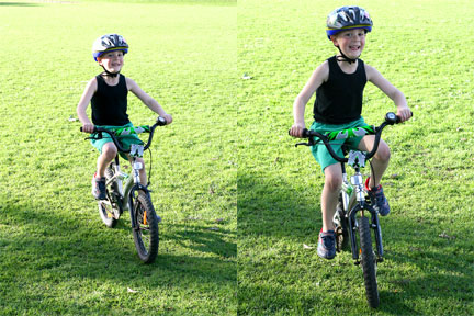 Matt-learning-to-ride