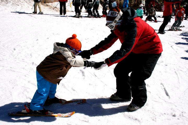 Dan-in-a-skiing-lesson
