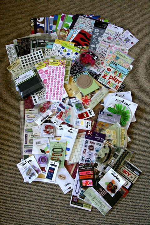 Scrapbook-sale-full-lot