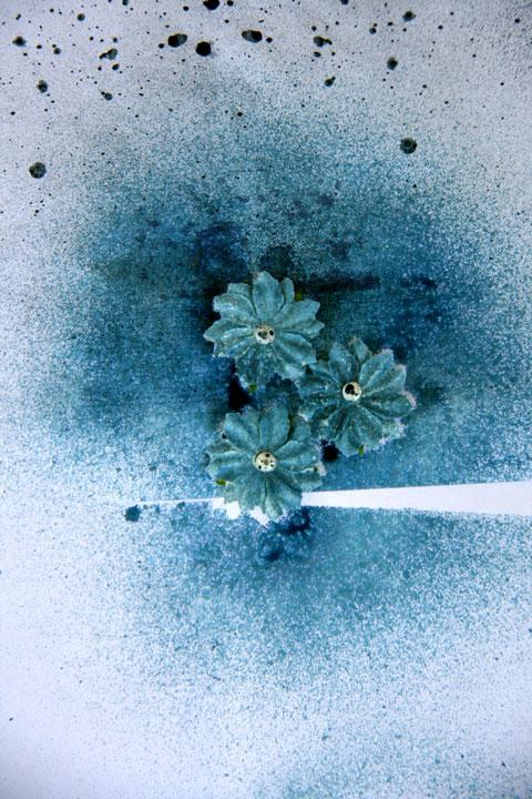 Prima-flowers-spritzed-with-glimmermist