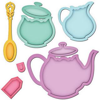 Spellbinders teapot die
