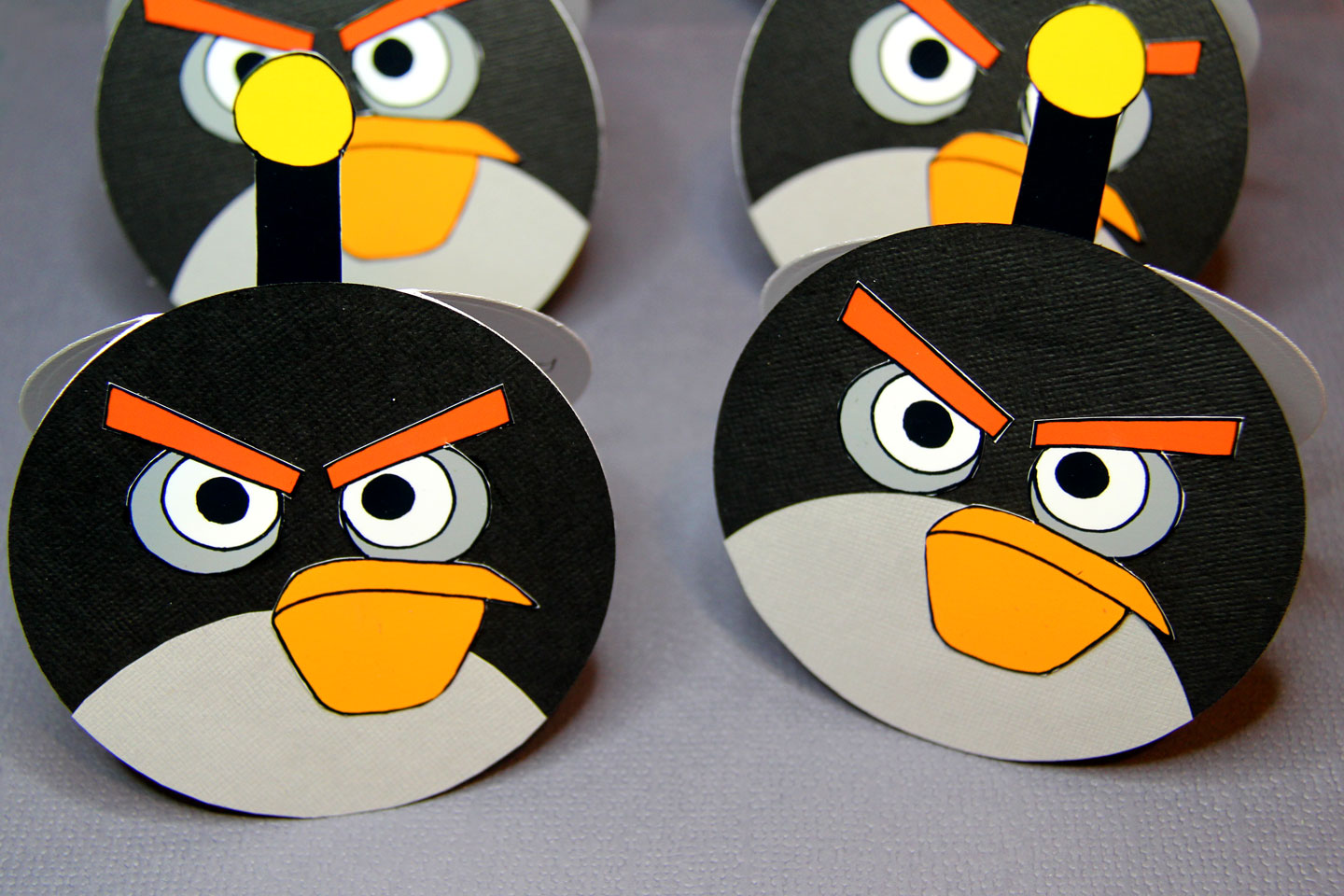 Home made Angry Birds Party Invitations - Living my dream