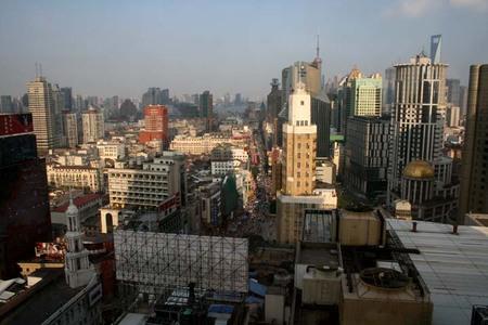 China_shanghai_through_hotel_window
