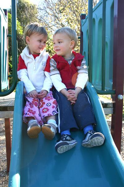 Twins_on_slide