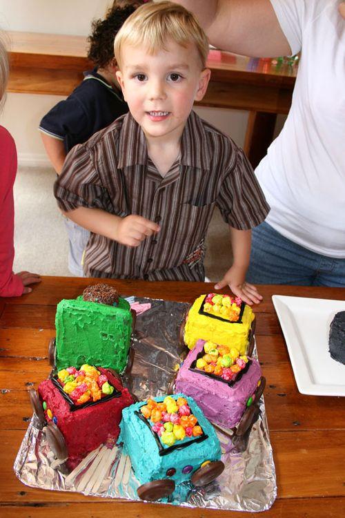 Matt and train cake smaller